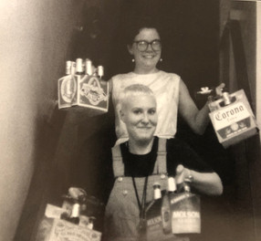 Gisela and Denise Rotttina bringin' in the beer. Friday evening sometime in 1992