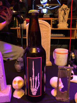 Chris saved this special Jack Skellington beer that was brewed by Skellington Mold Maker Chris Goehe in the early 90's.