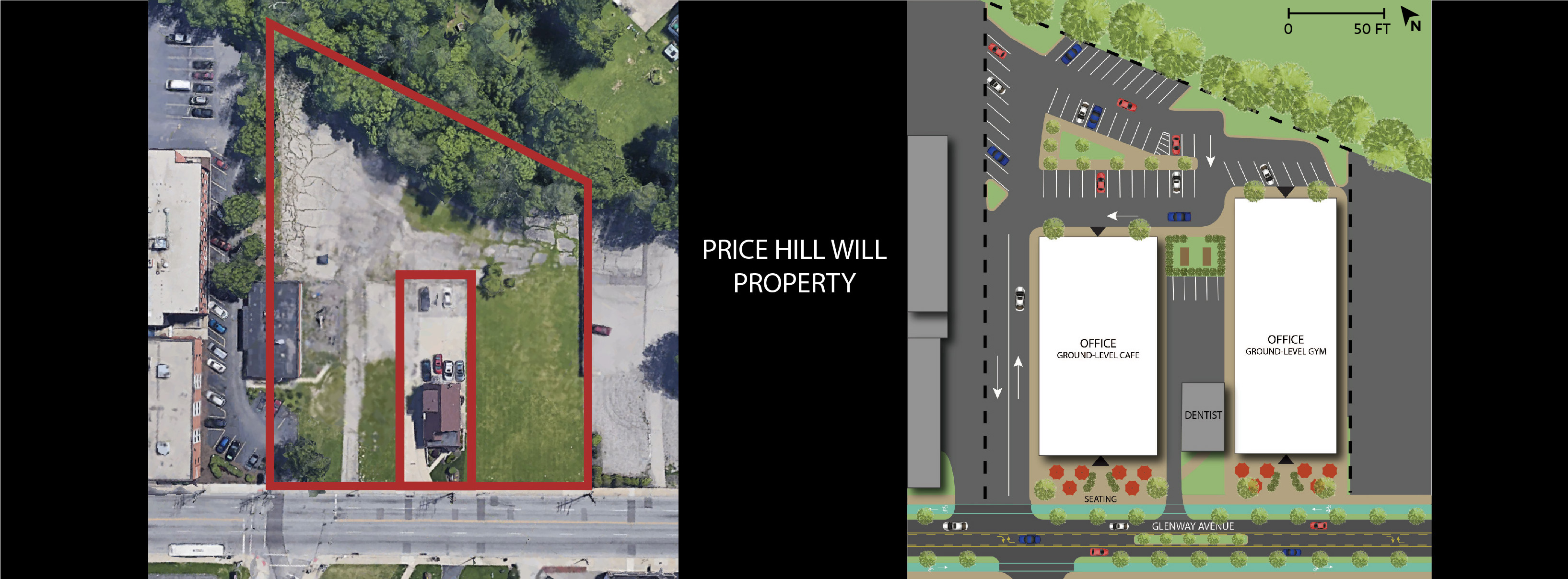 OFFICE PRICE HILL WILL PROPERTY SITE PLAN