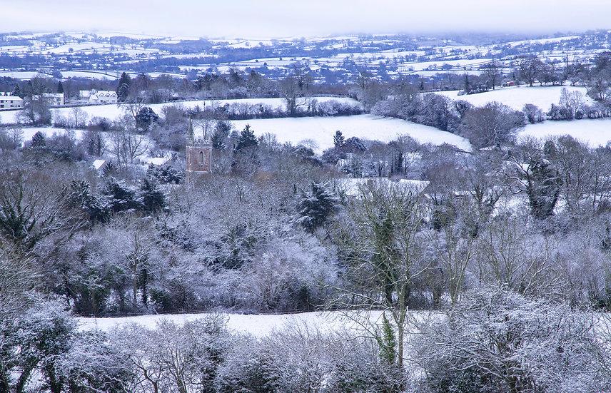 Snowy St. Andrew's Church, Chew Stoke