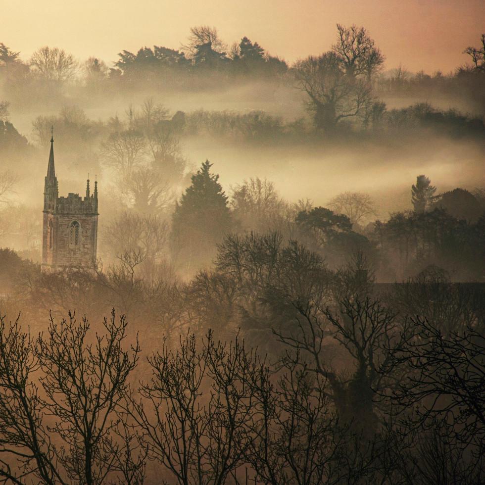 St. Andrew's Church in December Mist