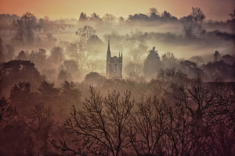 St. Andrew's Church in the Mist