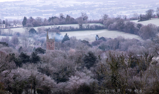 St. Andrew's Church in Chew Stoke New Year's Day