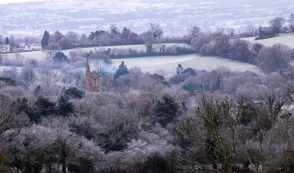 Print - St. Andrew's Church, New Year's Day 2021