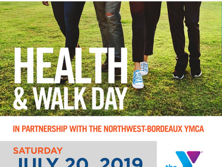 Health & Walk Day, Sat. July 20, 2019