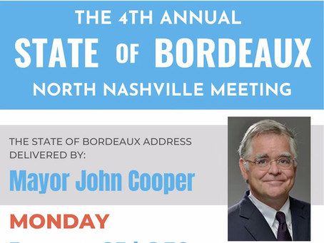 4th Annual State of Bordeaux VIRTUAL Meeting, Mon. Jan. 25, 2021 at 6:30 p.m.