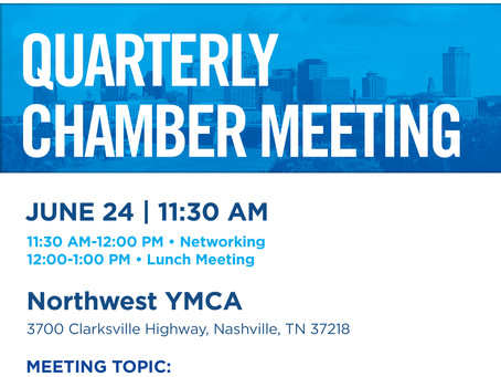 Quarterly Lunch Meeting, Mon. June 24, 2019 at 11:30 a.m.