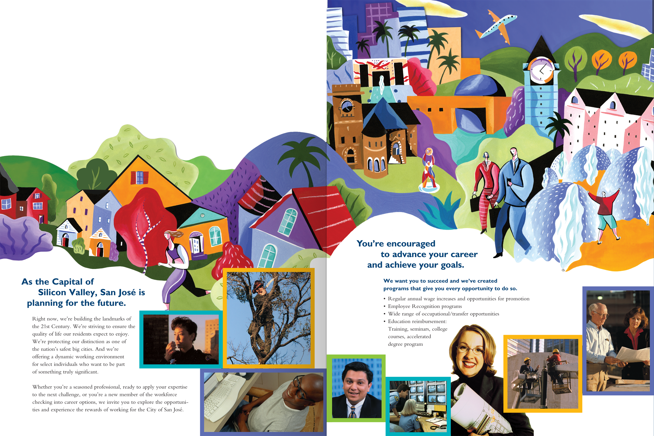 City of San Jose Die-Cut HR Brochure