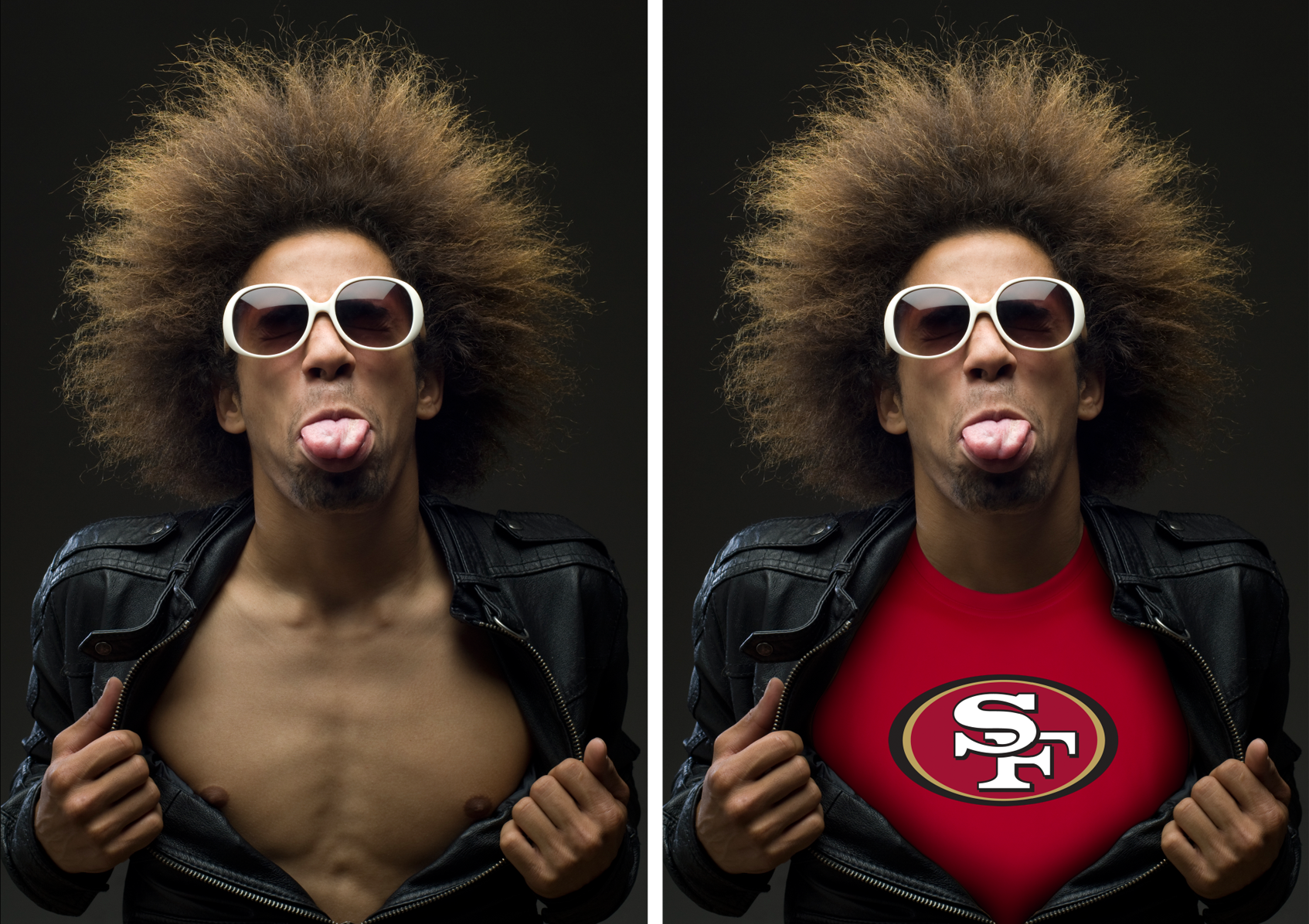 From Shirtless to 49er Fan