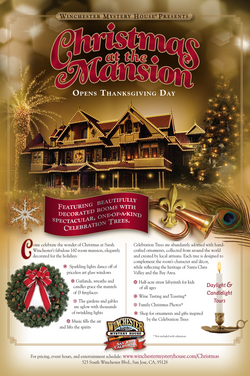 Winchester Mystery House Holiday Ad