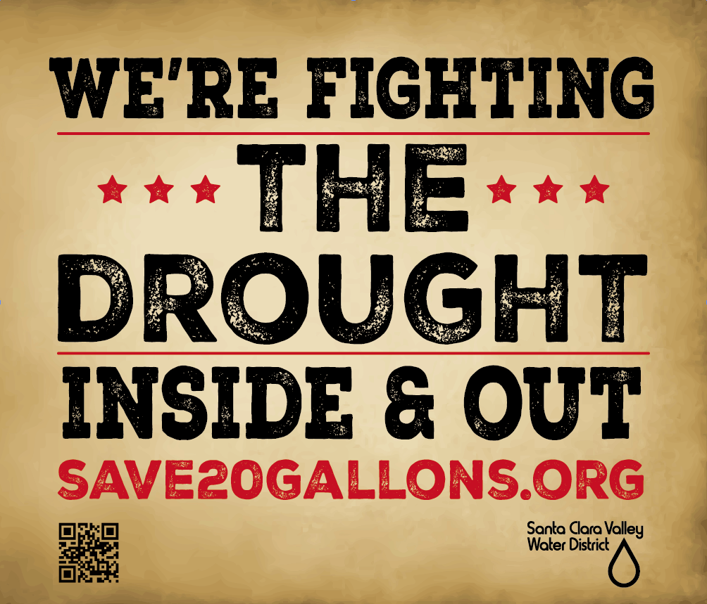 Fighting The Drought Lawn Sign