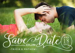 Custom Save Our Date With Photo