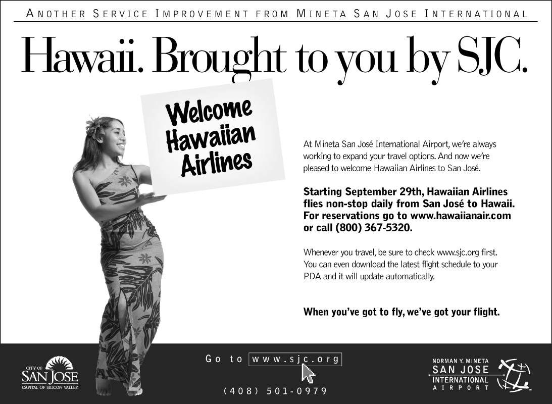 SJC Hawaiian Airlines Ad