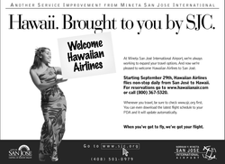 SJC Hawaiian Airlines Ad