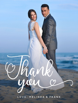 Custom Photo Thank You Postcard