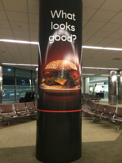 Airport Concessions Column Wrap