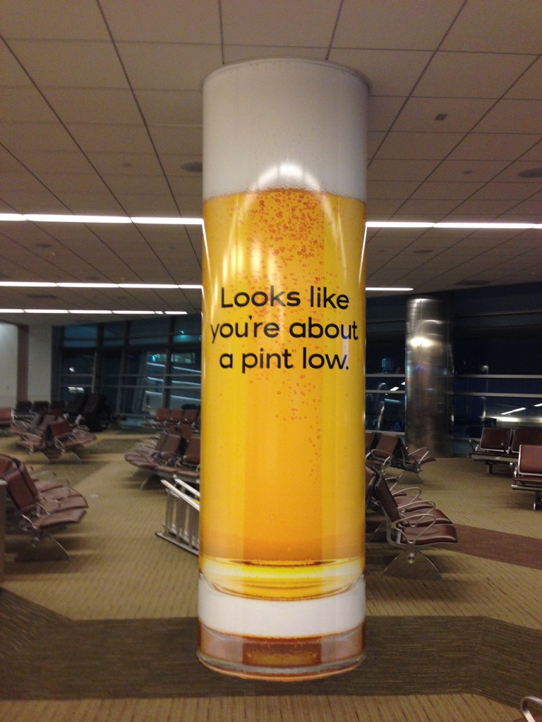 Airport Concessions Column Wrap