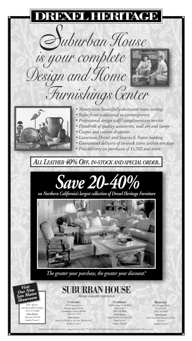 Suburban House Newspaper Ad