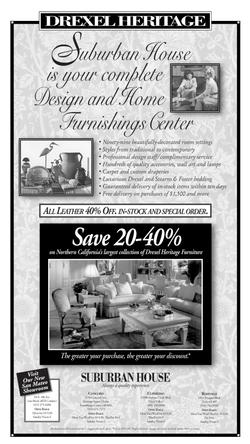 Suburban House Newspaper Ad