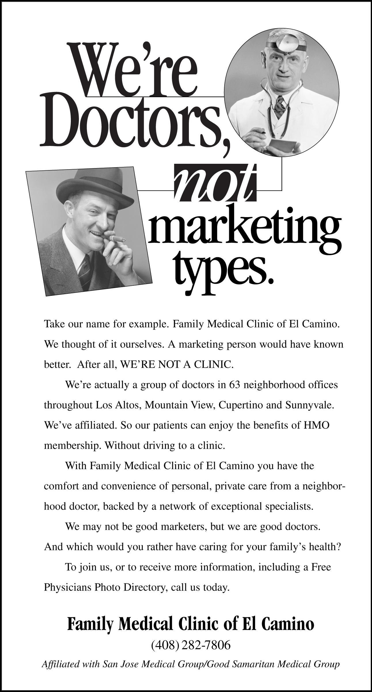 El Camino Newspaper Ad