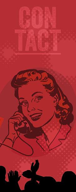 Retro illustation of a lady on the phone