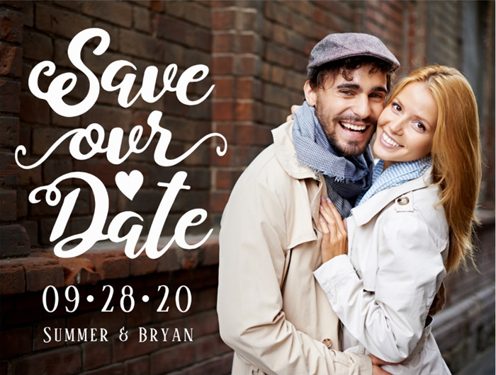 Custom Save Our Date Postcard