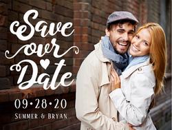 Custom Save Our Date Postcard