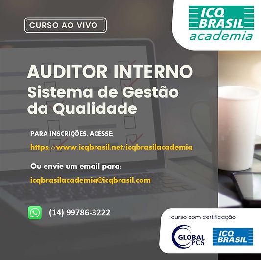 ISO 9001 - Auditor Interno Sistema de Gestão da Qualidade