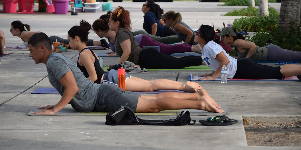 Yoga at the Market