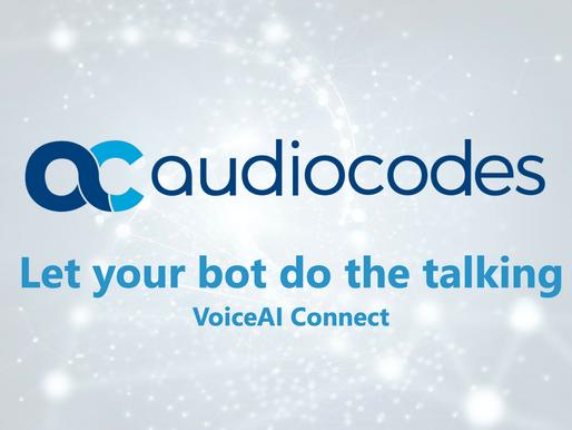 Voicegain announces integration with AudioCodes VoiceAI Connect