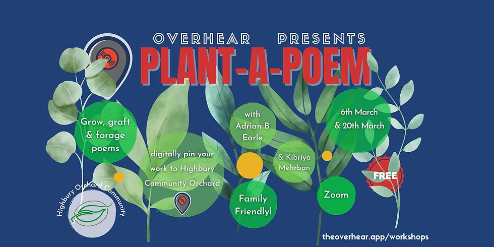 Plant a Poem Highbury Orchard Workshop 6th March