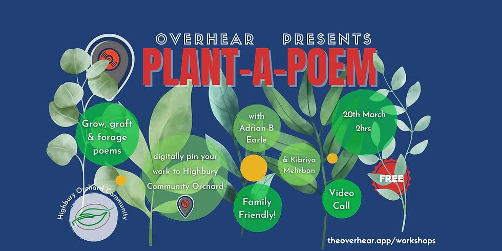 Plant a Poem Highbury Orchard Workshop 20th March