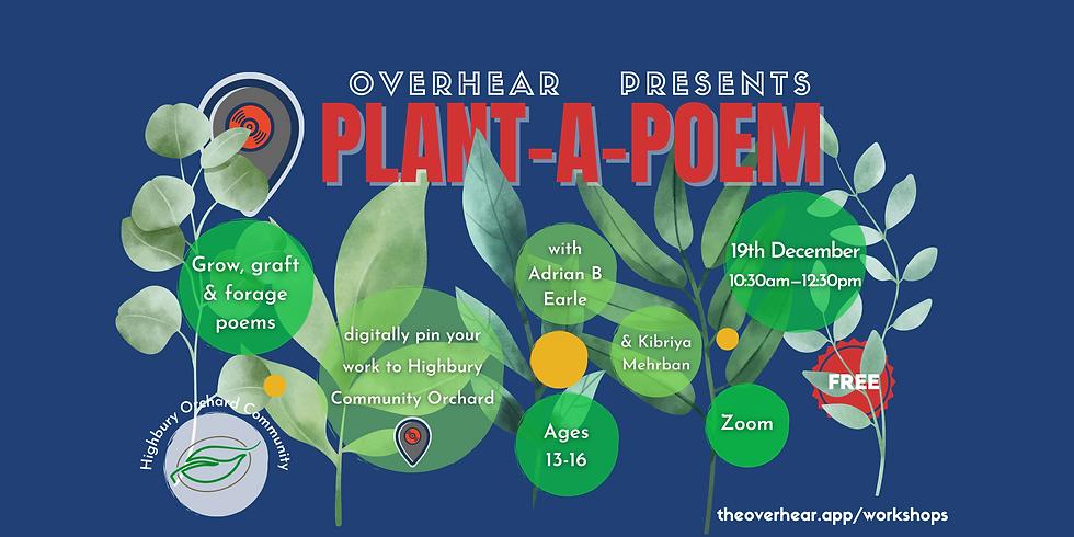 Plant a Poem Highbury Orchard Workshop