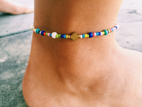 MULTICOLOR MINI-LOVE ANKLET