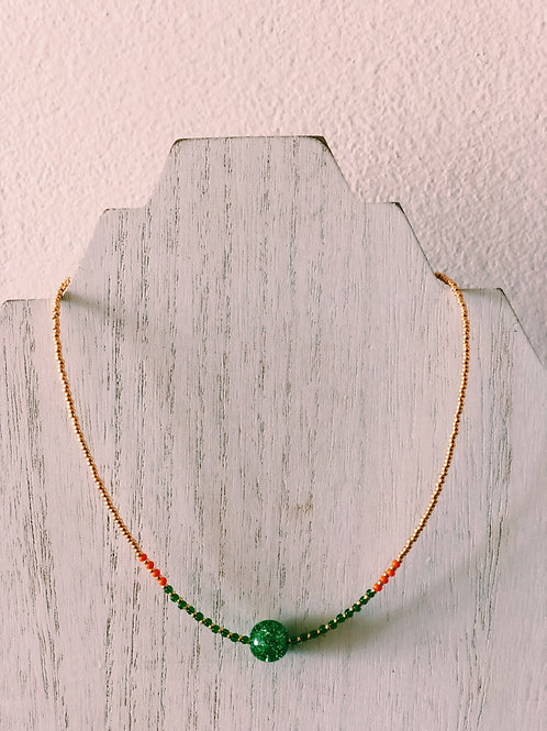 GOLD PLATED CANE CHOKER