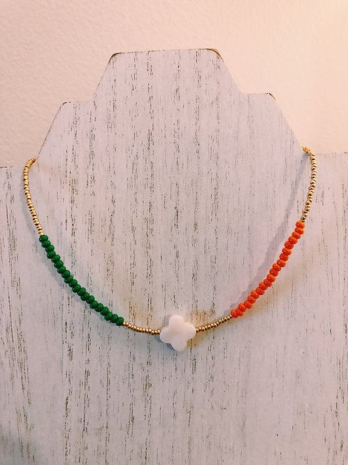 GOLD PLATED MISMATCH MIAMI CHOKER