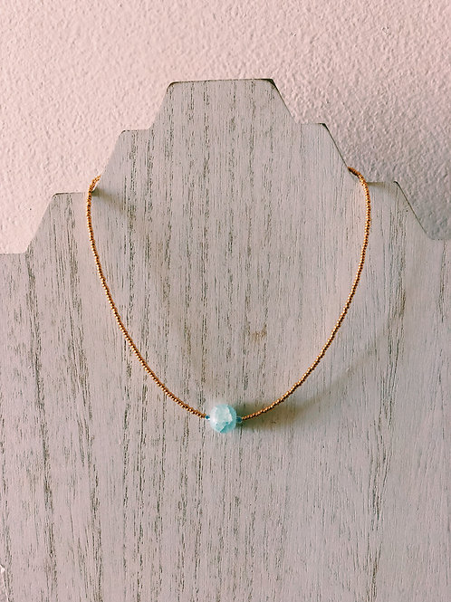 GOLD PLATED KEY WEST CHOKER