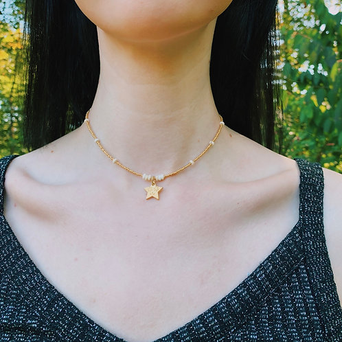 GOLD PLATED STAR CHARM CHOKER