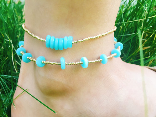 BOTTOM BLUE BAR ANKLET
