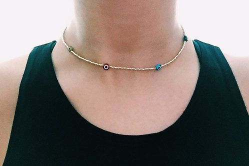 SATELLITE EYE CHOKER