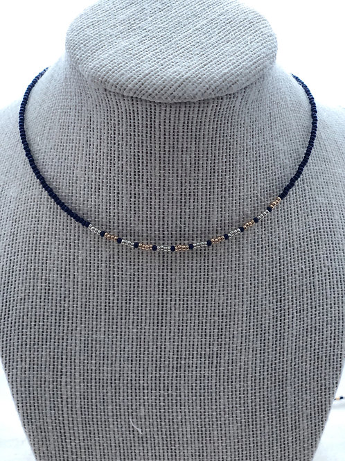 NAVY CENTER CHOKER