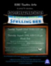 Spelling Bee Audition Flyer
