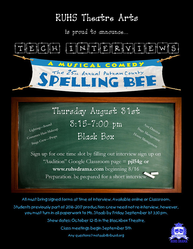 Spelling Bee Tech Interview Flyer