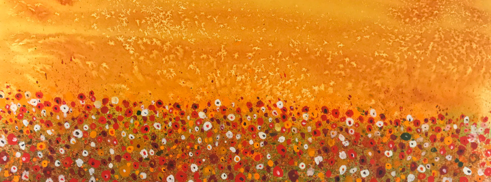 Daisies and Poppies Gold