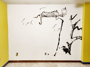 I Painted A Calvin And Hobbes Wall Mural