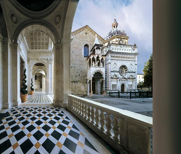 Basilica di Santa Maria Maggiore - Cappella Colleoni viste dal Duomo