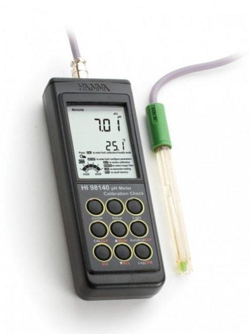 Pārnēsājams pH metrs ar viedo elektrodu Hanna HI98140