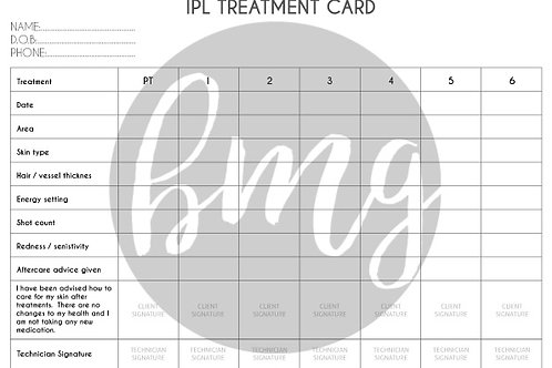 1000 pc IPL Treatment Cards,A5 Size