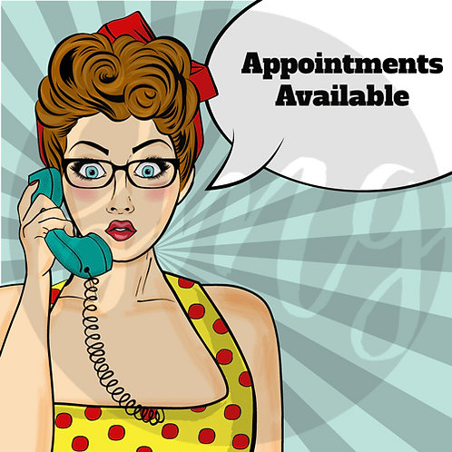Appointments Available - Pop Art GIF