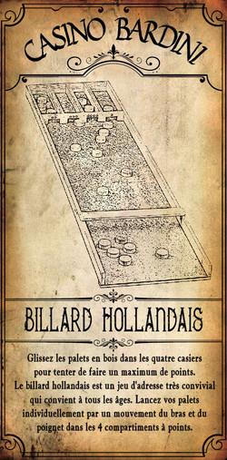 BILLARD HOLLANDAIS